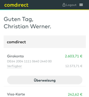 Comdirect Musterdepot App