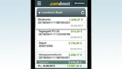 Video comdirect banking App